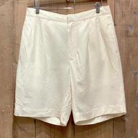 90's~ Polo Ralph Lauren Linen/Silk Two Tuck Shorts