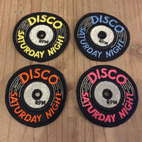 DISCO SATURDAY NIGHT 70's Vintage Record Patch