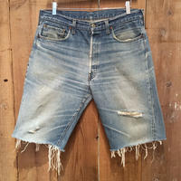 80's Levi's 501 Red Line Cut Off Denim Pants W 35