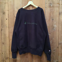 90's Champion RW Sweatshirt  NAVY  L
