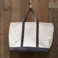 90's L.L.Bean Boat and Tote Zip Top LARGE NAVY