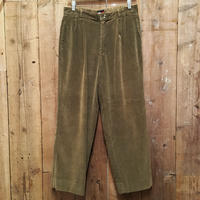 90's Tommy Hilfiger Two Tuck Corduroy Pants OLIVE  W 32