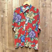 80's~ reyn spooner Rayon Aloha Shirt RED