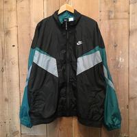 90's NIKE Nylon Jacket BLACK×GREEN
