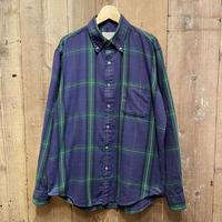 80's~ L.L.Bean B.D Light Flannel Shirt