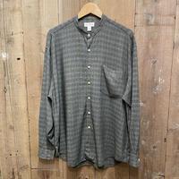 90's REUNION Rayon Band Collar Shirt