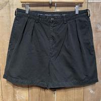 90's~ Polo Ralph Two Tuck Cotton Shorts  BLACK W 36