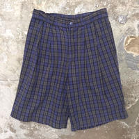 90's GAP Two Tuck Plaid Cotton Shorts W: 30