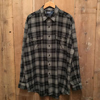 Polo Ralph Lauren Black Plaid Light Flannel Shirt
