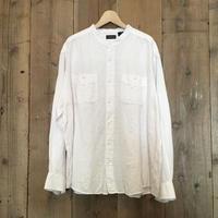GEORGE Linen×Rayon Band Collar Shirt