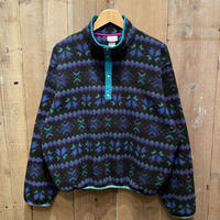 90's L.L.Bean Snap Fleece Shirt BLACK