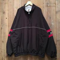 90's NIKE Poly Half Zip Jacket BLACK×BURGUNDY