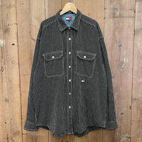 90's Tommy Jeans Cotton Snap Shirt