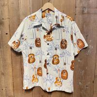 90's KALAKAUA Ukulele Cotton/Rayon Aloha Shirt