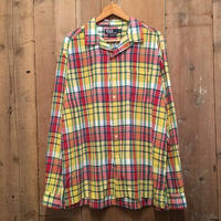 Polo Ralph Lauren Open Collar Madras Plaid Shirt