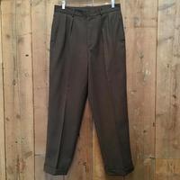90's J.CREW Two Tuck Wool Slacks  W : 32