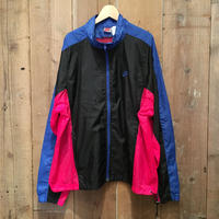 90's NIKE Nylon Track Jacket BLACK×BLUE×PINK