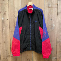 90's NIKE Nylon Windbreaker  BLACK×BLUE×RED