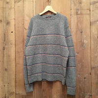 ~80's Lord Jeff Striped Shetland Wool Sweater