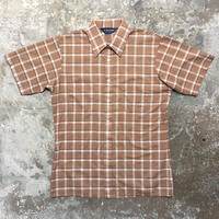 ~80's VAN HEUSEN Plaid Box Shirt