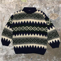 90's EARTH RAGZ Hand Knit Wool Sweater