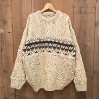 90's L.L.Bean Aran Knit Sweater