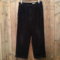 90's~ Eddie Bauer Two Tuck Corduroy Pants D.NAVY W 33