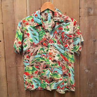 60's ~ Unknown Rayon Aloha Shirt