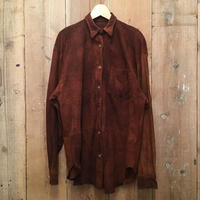 Ralph Lauren Nubuck Leather Shirt (Original Sample)