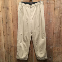 90's TOMMY HILFIGER  Two Tuck Cotton Chino Pants KHAKI W:34