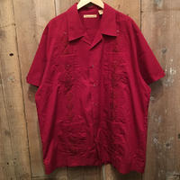 The Hauanera Co. guayabera Shirt BURGUNDY