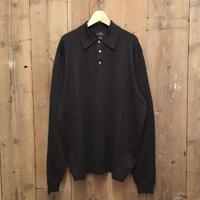 Brooks Brothers Merino Wool Knit Polo Shirt CHARCOAL
