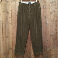 90's Polo Ralph Lauren Two Tuck Corduroy Pants OLIVE W 33  #1