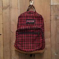 90's JANSPORT Nylon×Leather Backpack  PLAID