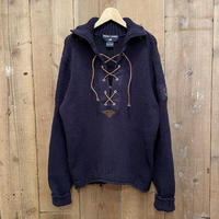 90's POLO SPORT Lace Up Cotton Sweater