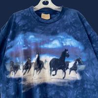 horse print big Tshirt / 馬プリントビックTシャツ