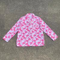 flamingo print pajama shirt/フラミンゴ柄パジャマシャツ