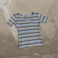 compact rib Tshirts (blue) / コンパクトリブTシャツ(ブルー)