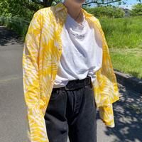 leaf pattern yellow ralph lauren shirt / 葉柄ラルフローレンシャツ