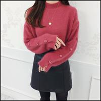 《予約商品/12月中旬〜》アンゴラボタンスリーブニット