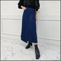 《予約商品/10月中旬〜》デニムラップスカート