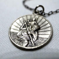 80's St.Christopher Charm Necklace