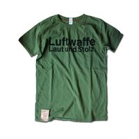 SHORT SLEEVE TEE SHIRT with Luftwaffe PRINT ARMY COLOUR