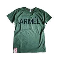SHORT SLEEVE TEE SHIRT with ARMEE PRINT ARMY COLOUR