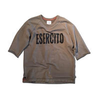 HALF SLEEVE PRINT SWEAT SHIRT ESERCITO ARMY GREEN