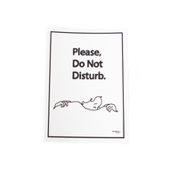Do Not Disturb STICKER(white)