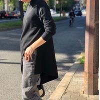 プチハイネック裾ランダムニット(ブラック)