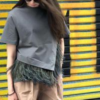 2wayフェザーtシャツ(カーキ)