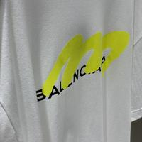 パロディBALENCIAGA ユニセックスTシャツ(ホワイト×イエロー)