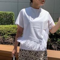 2wayフェザーtシャツ(ホワイト)
